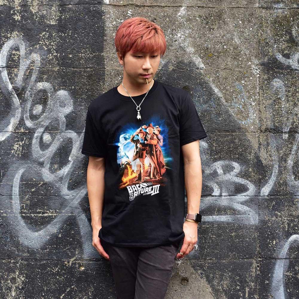 BACK TO THE FUTURE バックトゥザフューチャー (マイケルJフォックス生誕60周年 ) - BTTF3 / Tシャツ / メンズ