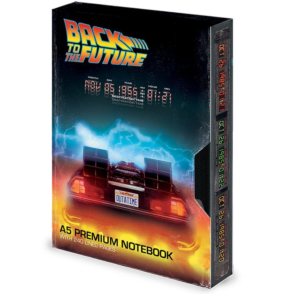 BACK TO THE FUTURE バックトゥザフューチャー (マイケルJフォックス生誕60周年 ) - Great Scott / Premium A5 / ノート・メモ帳