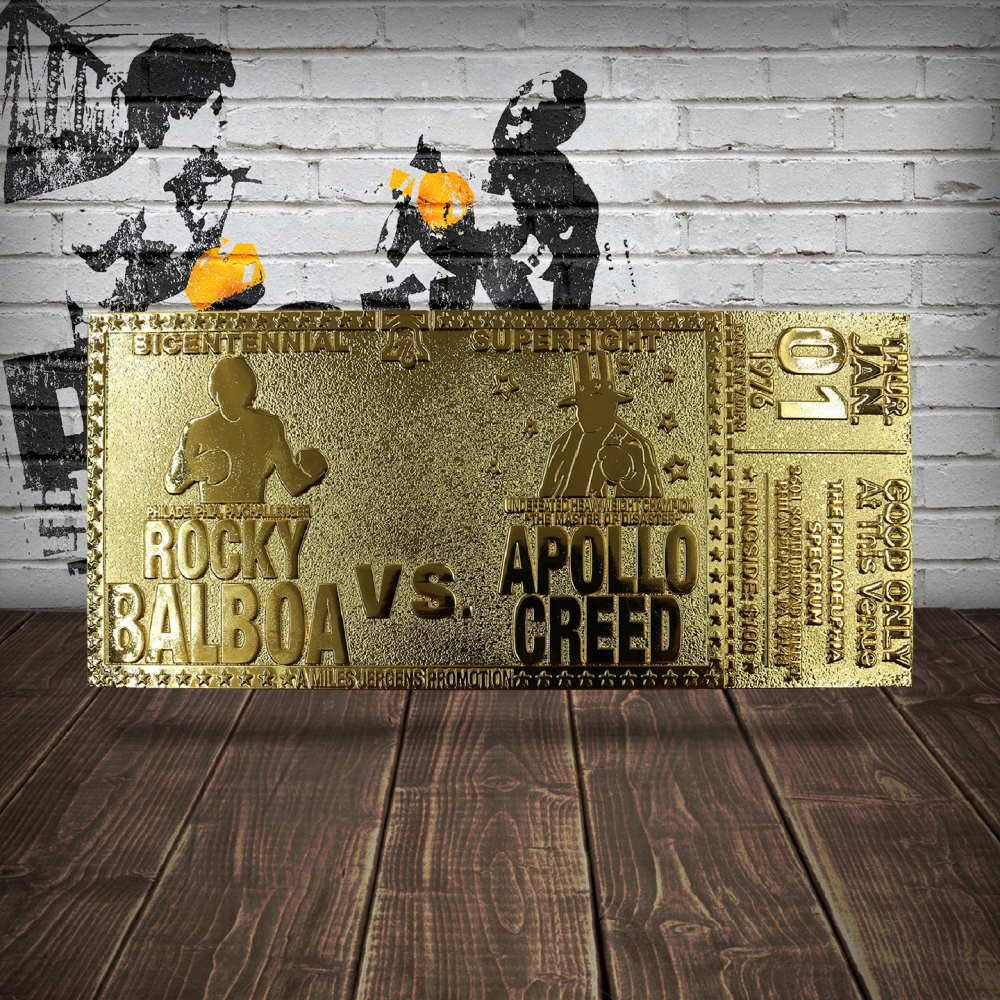 ROCKY ロッキー (公開45周年 ) - 45th Anniversary 24K Gold Plated Limited Edition Fight Ticket / 世界限定1976枚 / コレクタブル