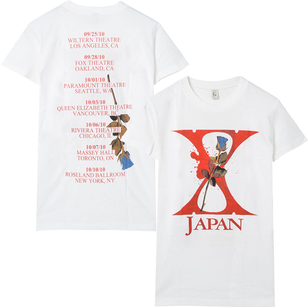 X JAPAN エックスジャパン - ROSE TOUR2010 / Tシャツ / レディース