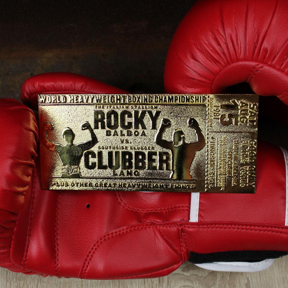 【予約商品】 ROCKY ロッキー (公開45周年 ) - III Clubber Lang 24K Gold Plated Limited Edition Fight Ticket / 世界限定1976枚 / コレクタブル