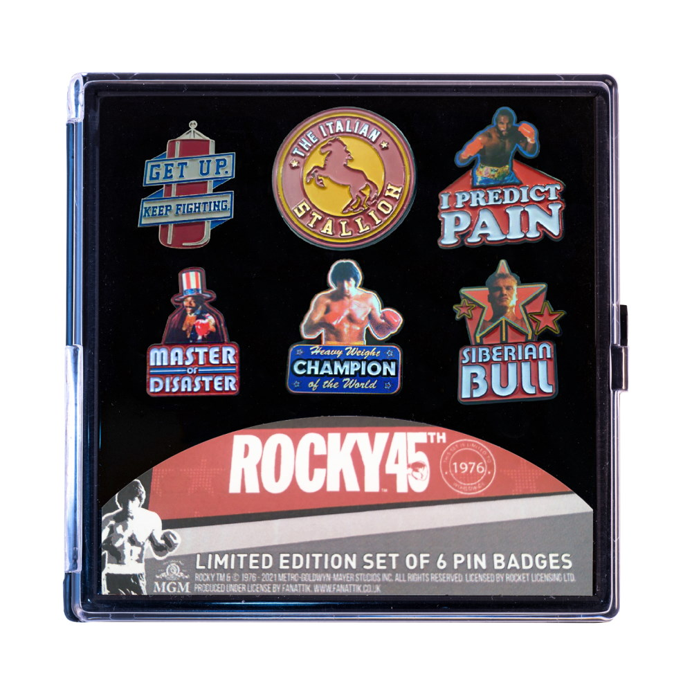 ROCKY ロッキー (公開45周年 ) - Limited Edition 6 Pack of Pins / 世界限定1976枚 / バッジ