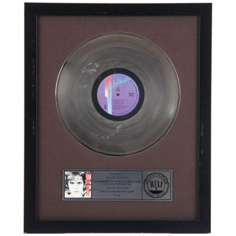 U2 ユーツー - お宝1点品 WAR PLATINUM DISC(RIAA アメリカレコード協会) / コレクタブル