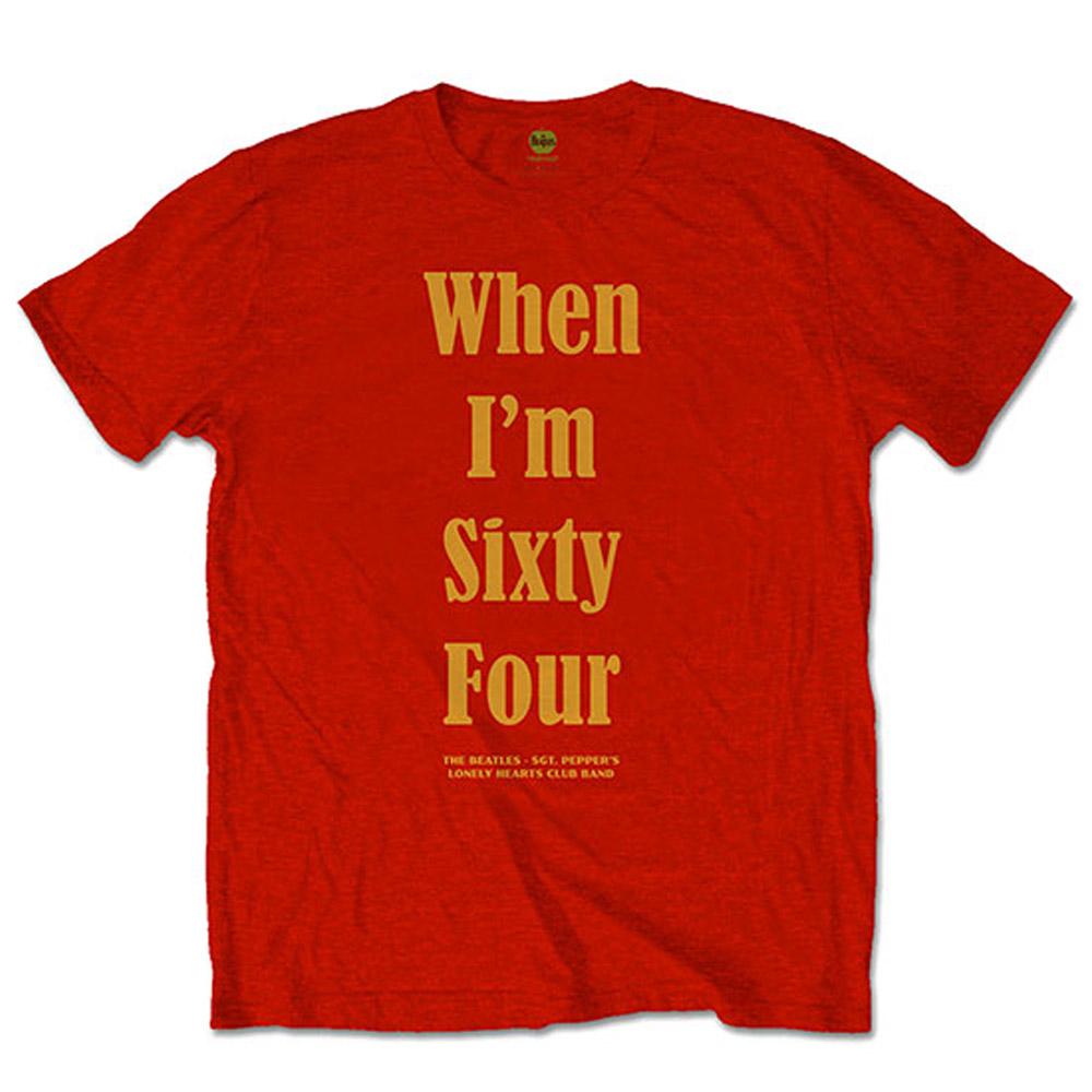 BEATLES ビートルズ (来日55周年記念 ) - When I'm Sixty Four / バックプリントあり / Tシャツ / メンズ