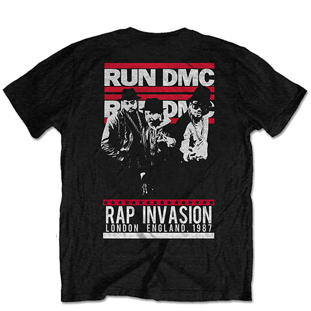 RUN DMC ランディーエムシー (結成40周年 ) - Rap Invasion / バックプリントあり / Tシャツ / メンズ