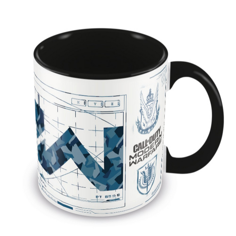 CALL OF DUTY コールオブデューティ - Modern Warfare (Icons) Black  Coloured Inner Mug / マグカップ