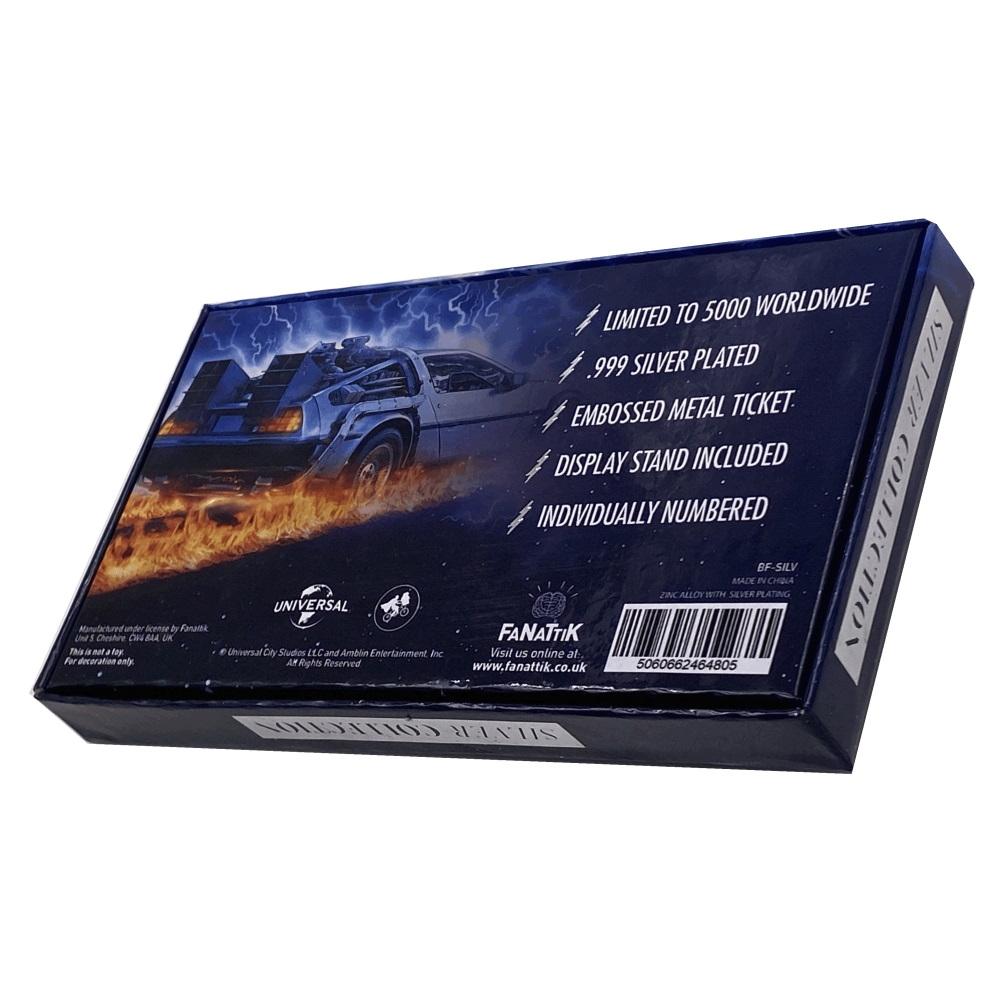 【予約商品】 BACK TO THE FUTURE バックトゥザフューチャー (公開35周年 ) - Silver Plated Ticket / 世界限定5000枚 / インテリア置物