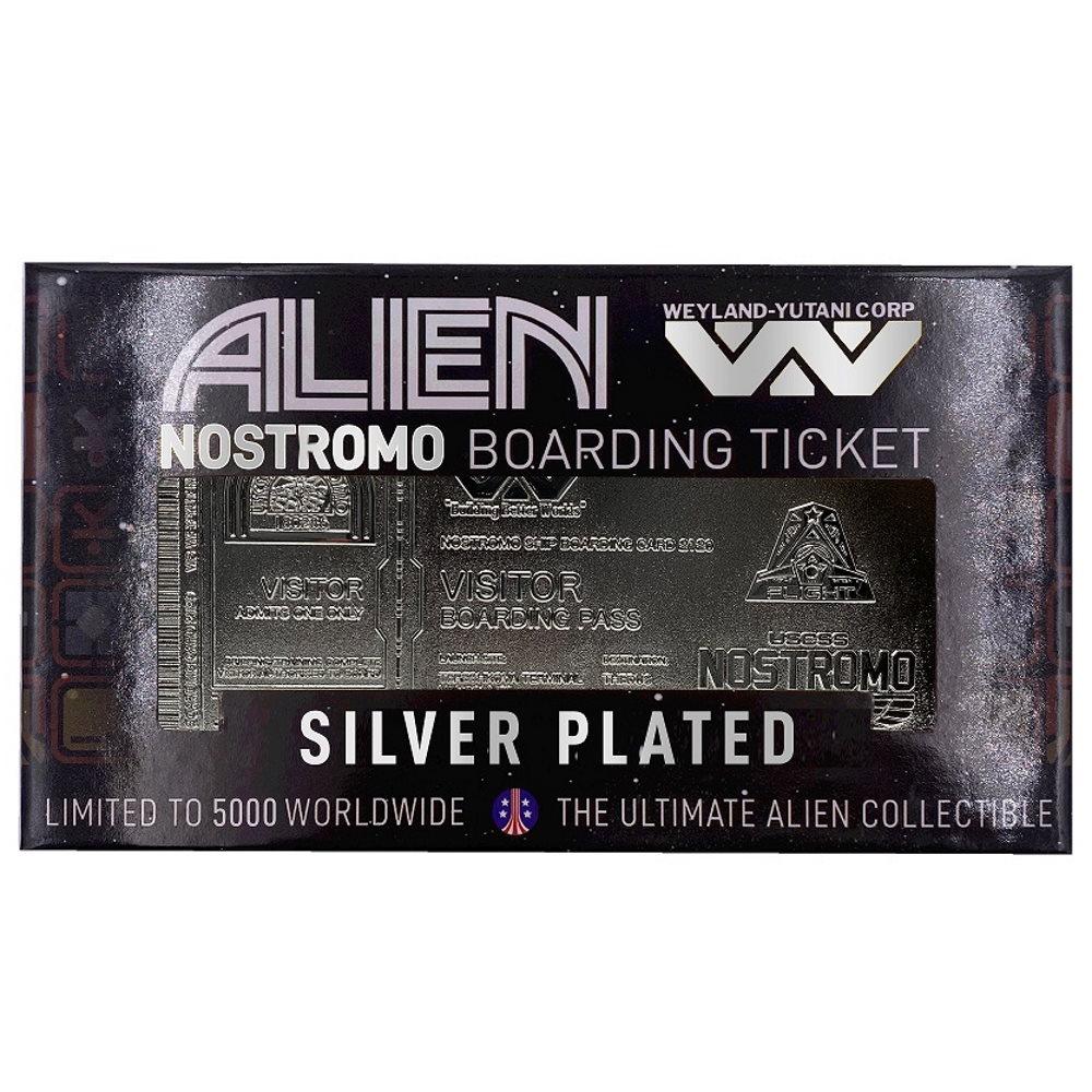 【予約商品】 ALIEN エイリアン - Silver Plated Ticket / 世界限定5000枚 / インテリア置物