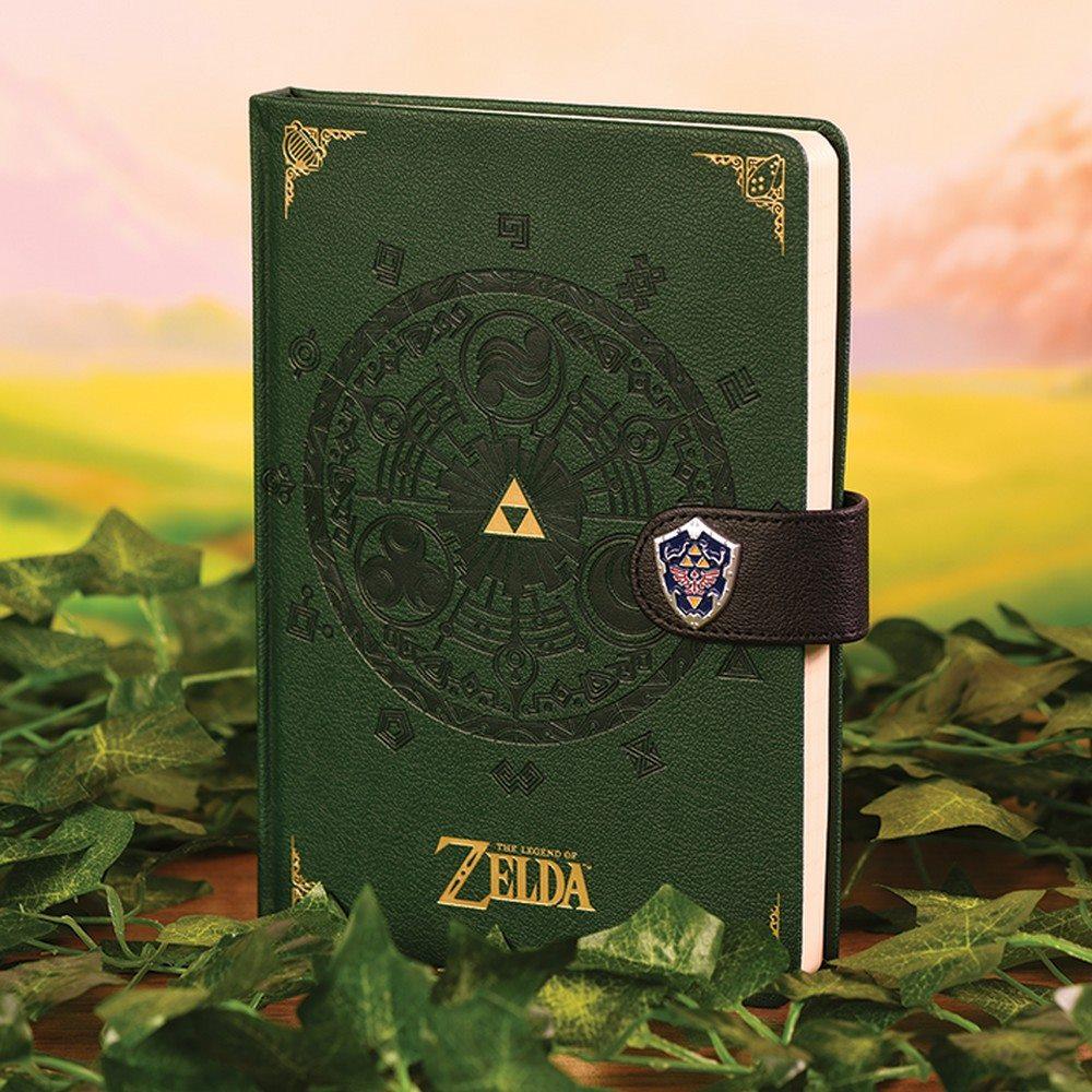 THE LEGEND OF ZELDA ゼルダの伝説 (ゼルダ35周年 ) - Medallion Premium A5 / ノート・メモ帳