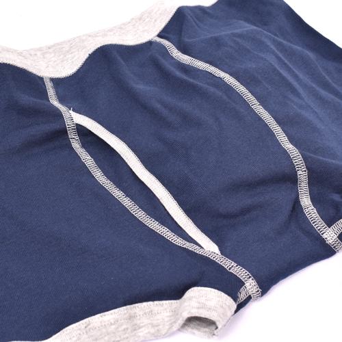 [5枚セット]ボーイズ カラーボクサーブリーフ-無地 前開き 綿100% 男の子/男児/肌着/パンツ/かっこいい/シンプル