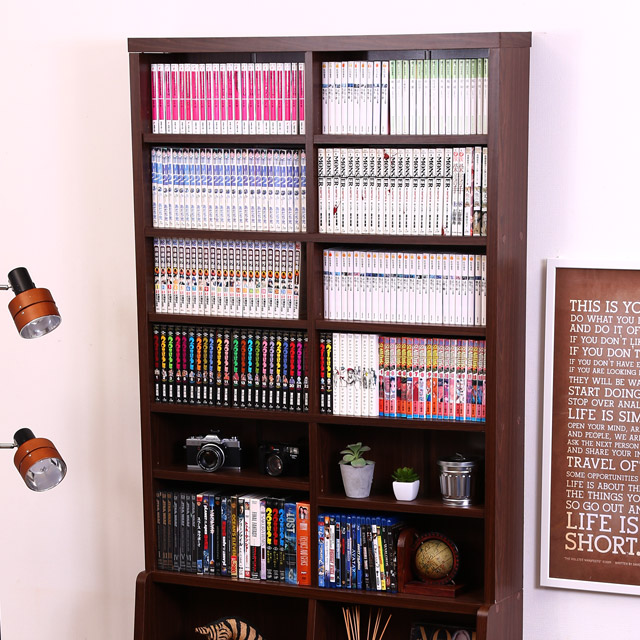 [送料無料]家具 書棚90 BK−9020BR