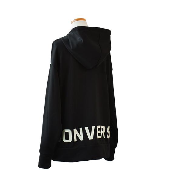 レディース コンバース 裏毛ロゴパーカー 婦人 CONVERSE UV ロゴ カジュアル スポーティ