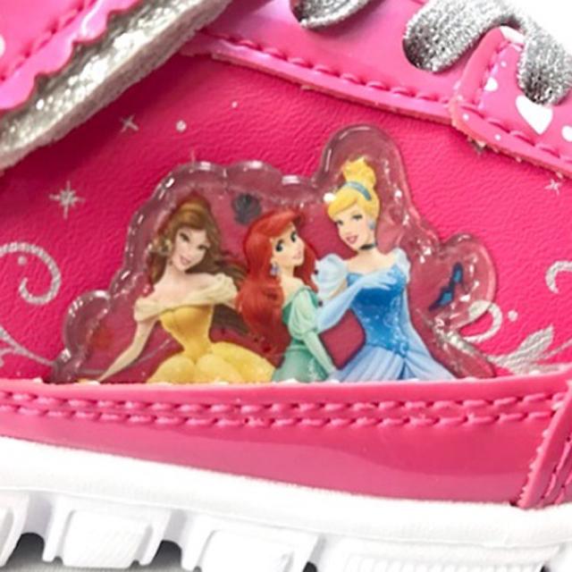 ガールズシューズ ディズニープリンセススニーカー キッズ 女の子 子供 靴 運動靴 キャラクター シンデレラ アリエル ベル 白雪姫 ラプンツェル オーロラ姫 ピンク パープル キャラクター