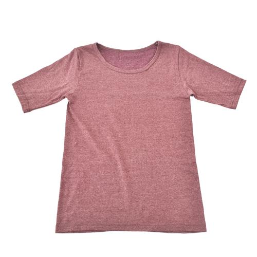 [S-5L]椿オイル加工半袖Tシャツ-2枚組 半袖/インナー/女性/婦人/保湿インナー/ストレッチ/快適インナー/快適