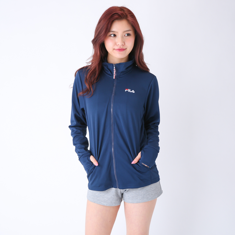 レディース FILA UVカットジャケット[女性/女の子/婦人/スポーツ/ランニング/アウトドア/レジャー/キャンプ/フェス/海/UVCUT]