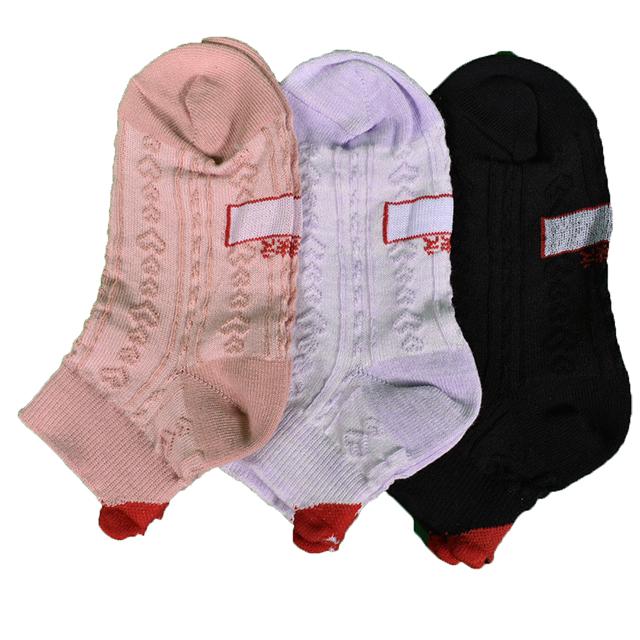 子供 キッズ 靴下 ソックス 女の子 ガールズ 音符柄 ハート 女児カジュアルソックスショート丈6足セット15−20
