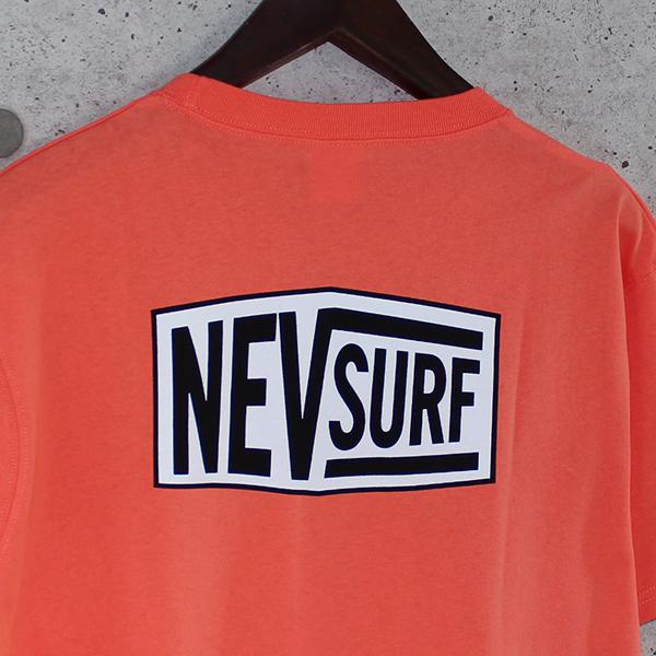 Tシャツ メンズ 半袖 ロゴプリント NEV surf 薄手 白 半袖Tシャツ バックプリント プリントTシャツ トップス カットソー カジュアル 1点までメール便可