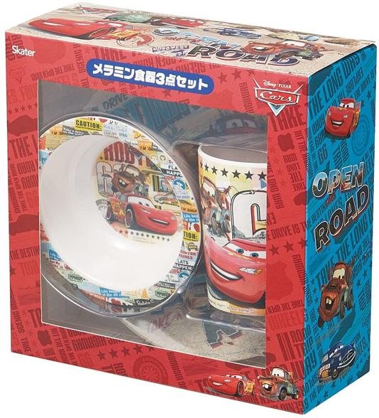 【カーズ】メラミン食器セット 子供用/3点セット/ギフト/プレゼント/お祝い/スケーター