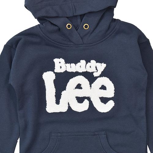 BuddyLeeロゴ裏毛フード付ワンピース BuddyLee キッズ ワンピース パーカー Lee 女の子 100 110 120