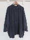 リネンストライプワイドシャツ 21057023