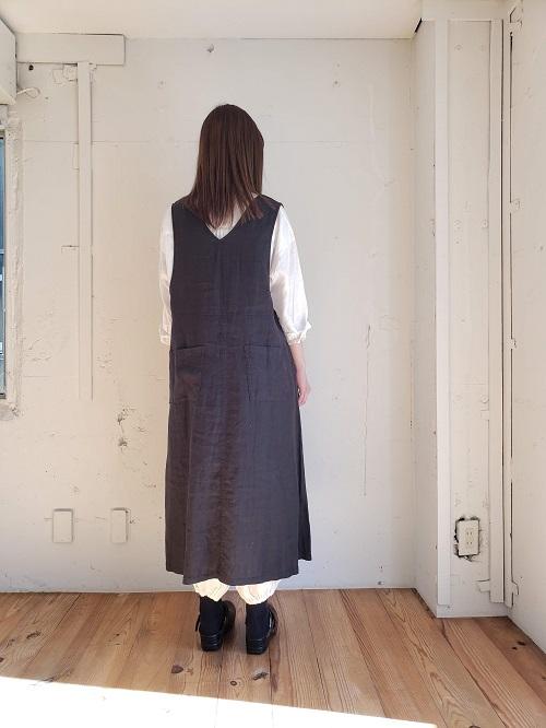 リネンサロペットスカート 21125000