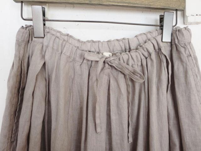 ベルギーリネンギャザースカート 21127021