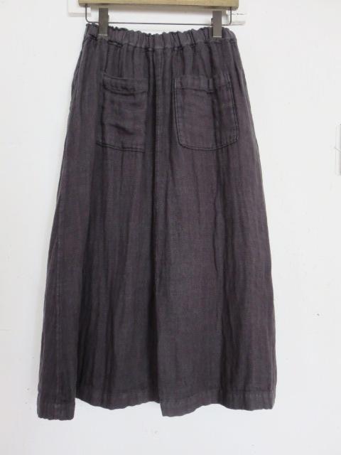 リネンWガーゼスカート 20077017