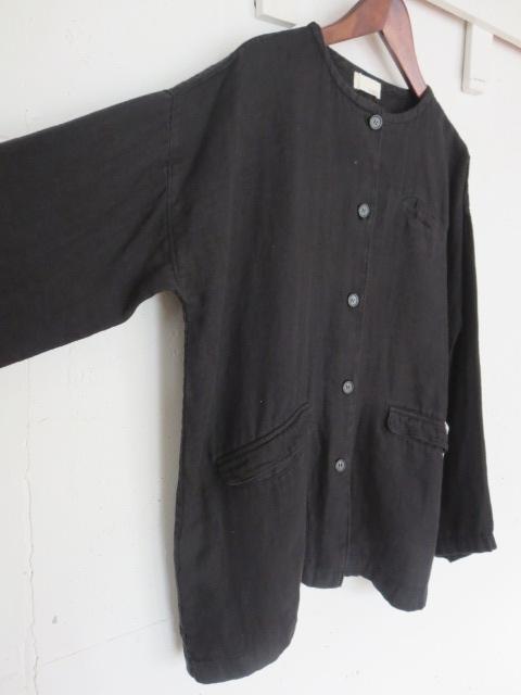 リネンWガーゼワークジャケット 21107006