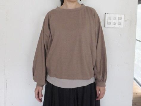 リネンテンジクギャザーTシャツ 21053006
