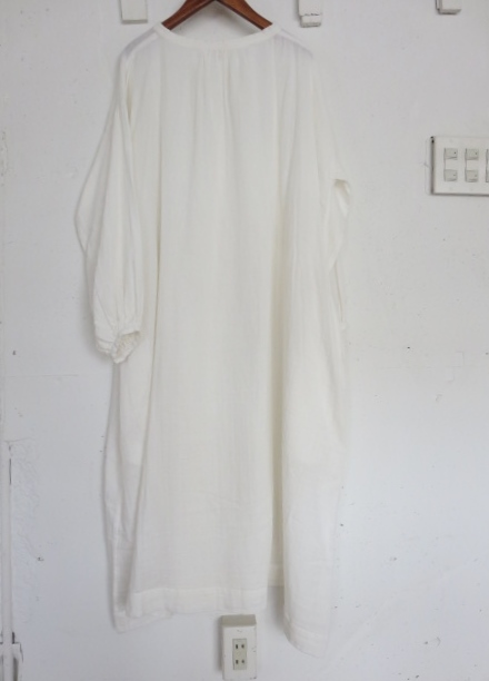 Wガーゼロングワンピース 751040