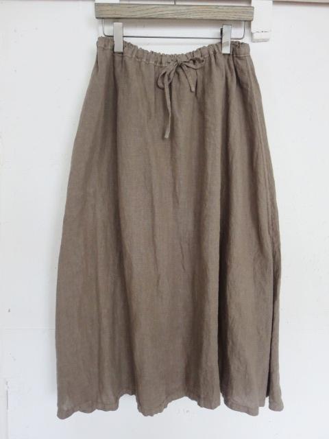リネンガーゼロングスカート 19107016B