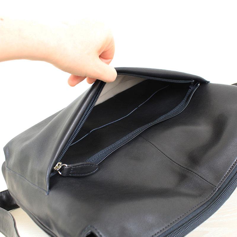 親子ポケットのショルダーバッグ PN-4S (ポニー調ソフトレザー)(姫路レザー)(A4対応)