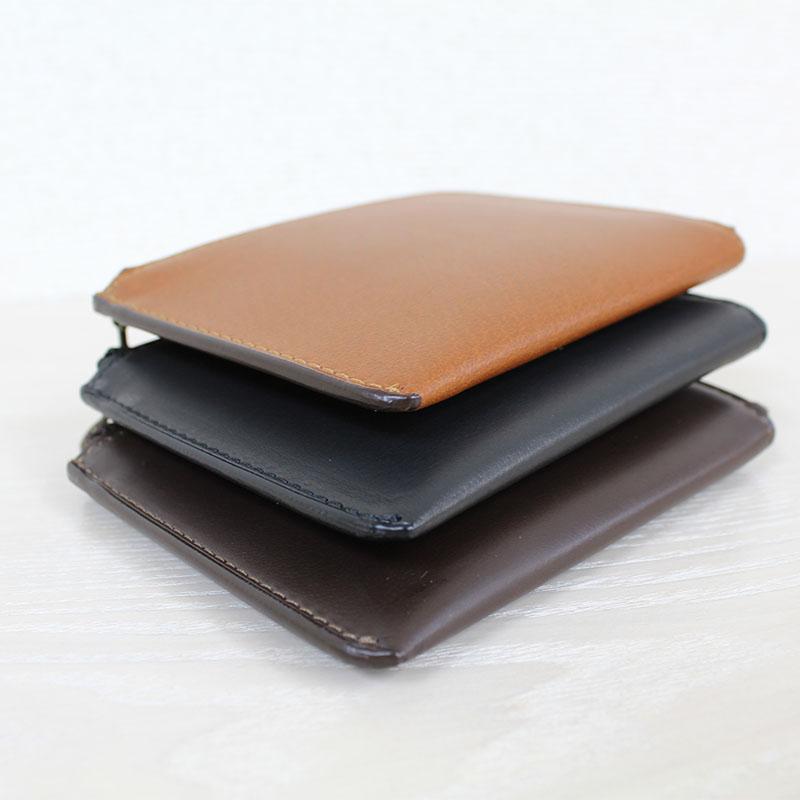 手のなかで大きく開く。コンパクトなL字ファスナー財布 P40 (バッファローカーフ)