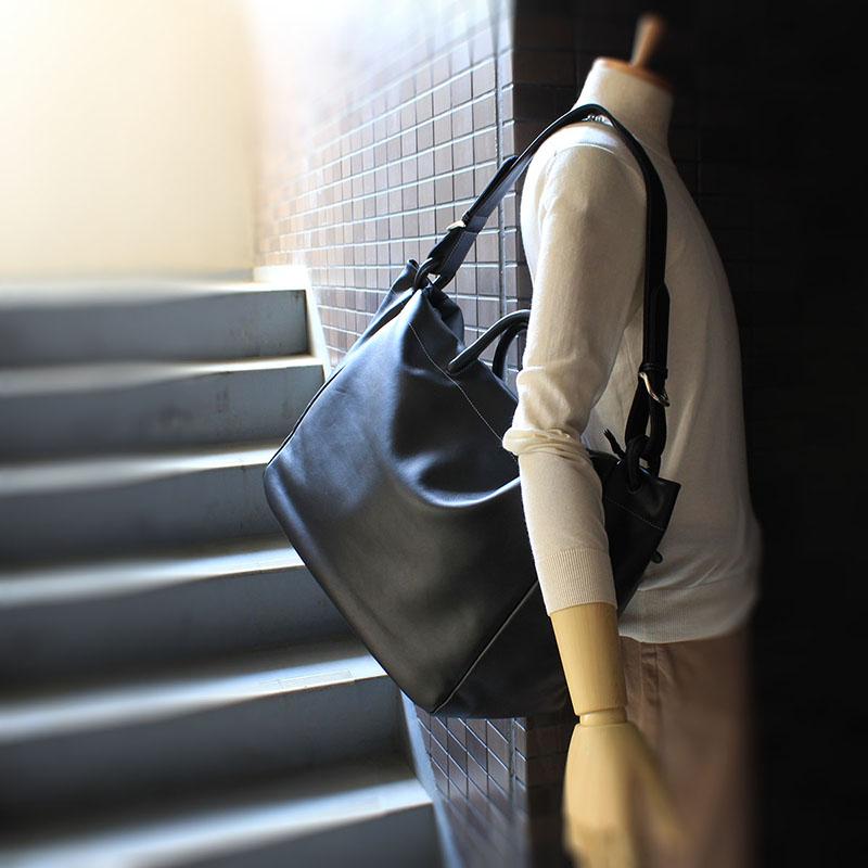 軽快に持てるトラベルボストンバッグ Lサイズ S206 (ポニー調ソフトレザー)(姫路レザー)