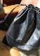 インバッグにもOK。薄く柔らかい手提げ革袋 KIP-31 (巾着袋)(Lサイズ)(姫路レザー)