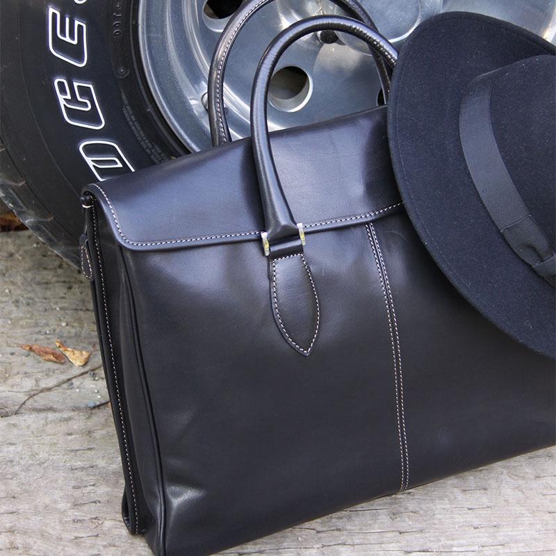 大判書類のためのビジネスバッグ B600 (バッファローカーフ)(A3対応)