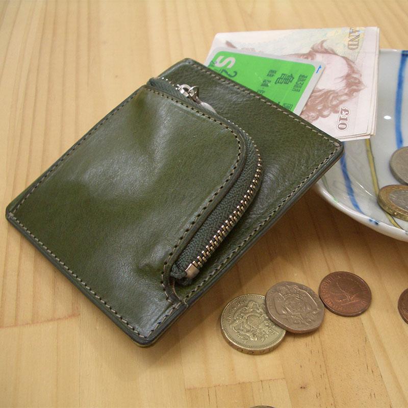 胸ポケットに入るコンパクトな札&小銭入れ P120NL (イタリアンレザー)