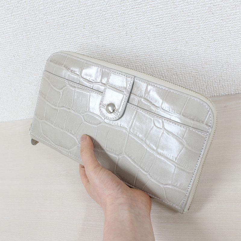 おさいふみたいなかわいいクラッチバッグ P67CR (姫路レザー)(クロコ型押し)