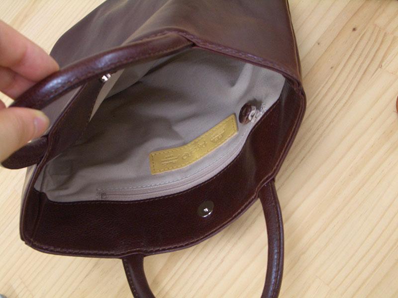 手提げのミニバッグ NL725 (イタリアンレザー)