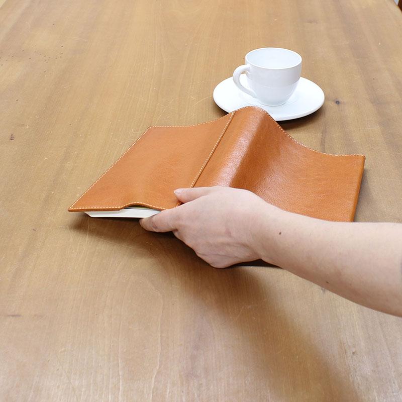 高級本革のB6判ブックカバー(栞無しモデル) A-0097NL