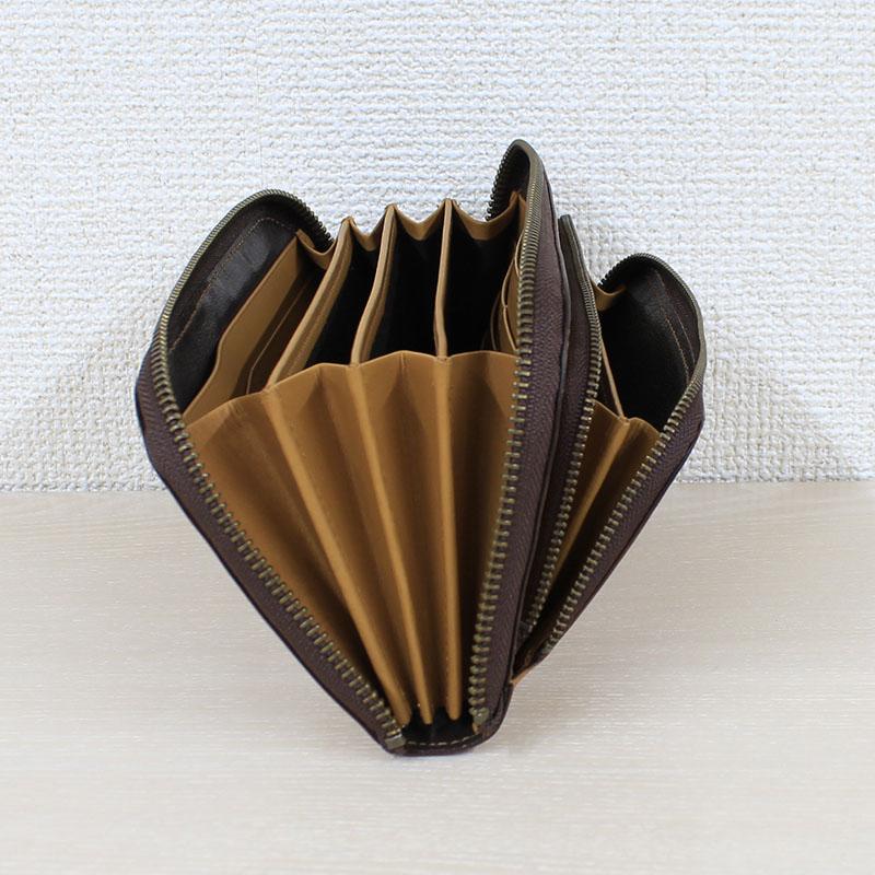 親子ポケットのラウンドファスナー財布 LLサイズ(長財布) P72 (バッファローカーフ)