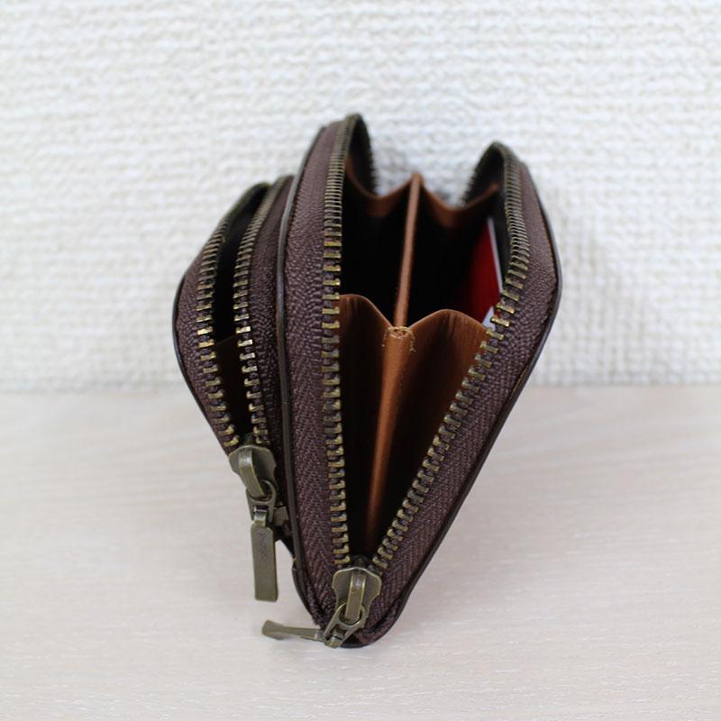 親子ポケットのラウンドファスナー財布 Sサイズ(小銭入れ) P75 (バッファローカーフ)