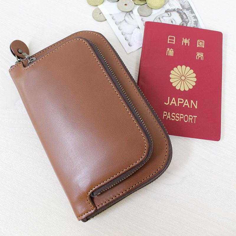 親子ポケットのラウンドファスナー財布 Lサイズ P73 (バッファローカーフ)