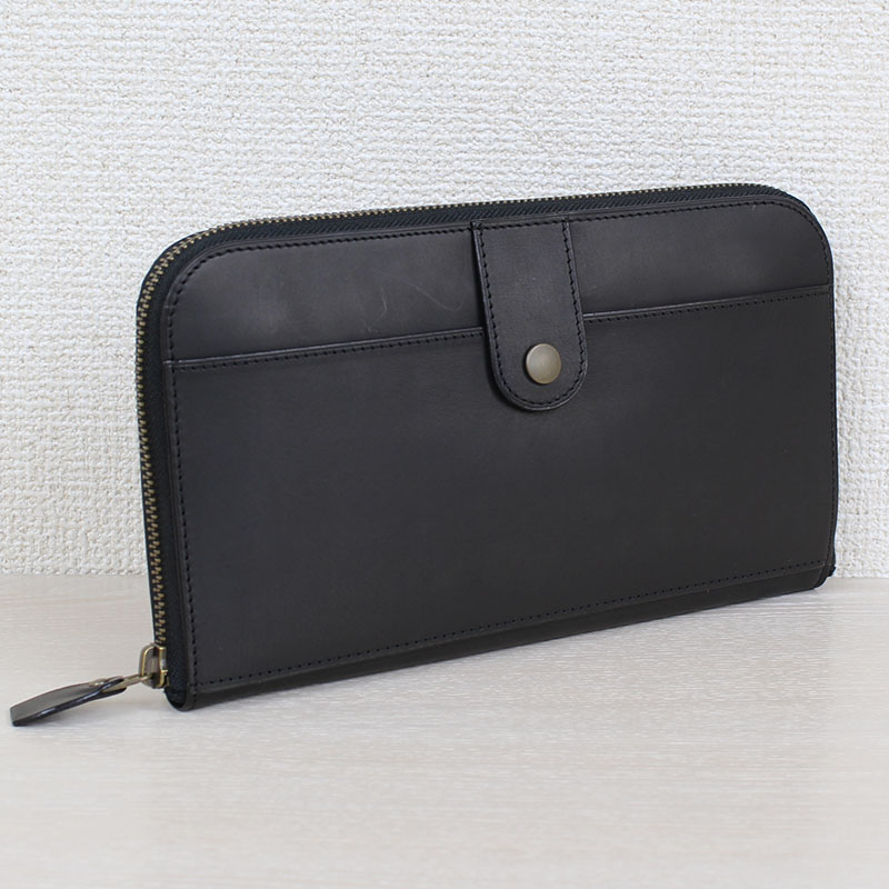 ラウンドファスナー財布 Lサイズ P67 (バッファローカーフ)