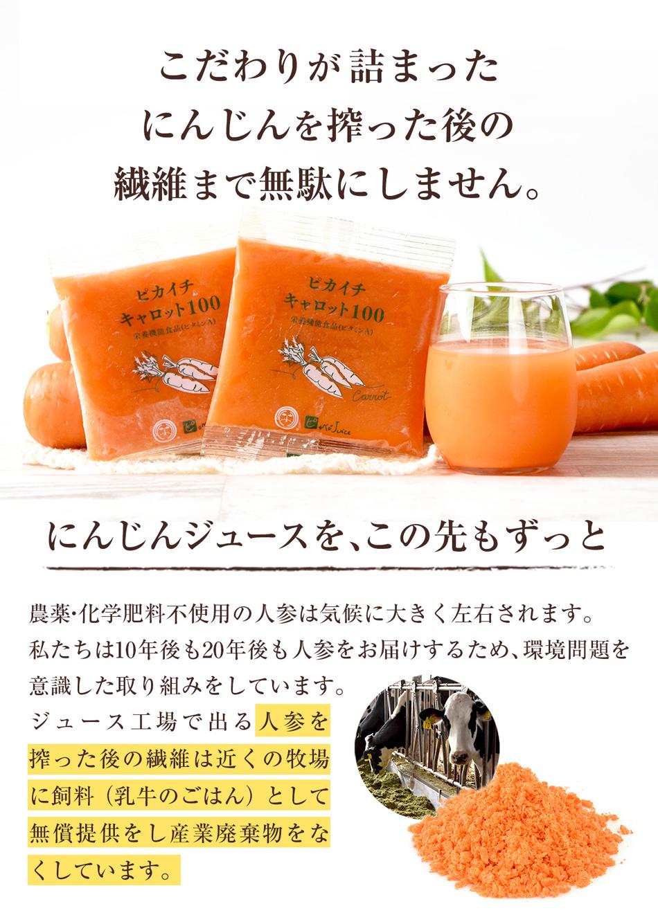 【お試しセット】 とくべつなにんじんジュース 【100cc×7p】【送料無料】【冷凍ジュース】