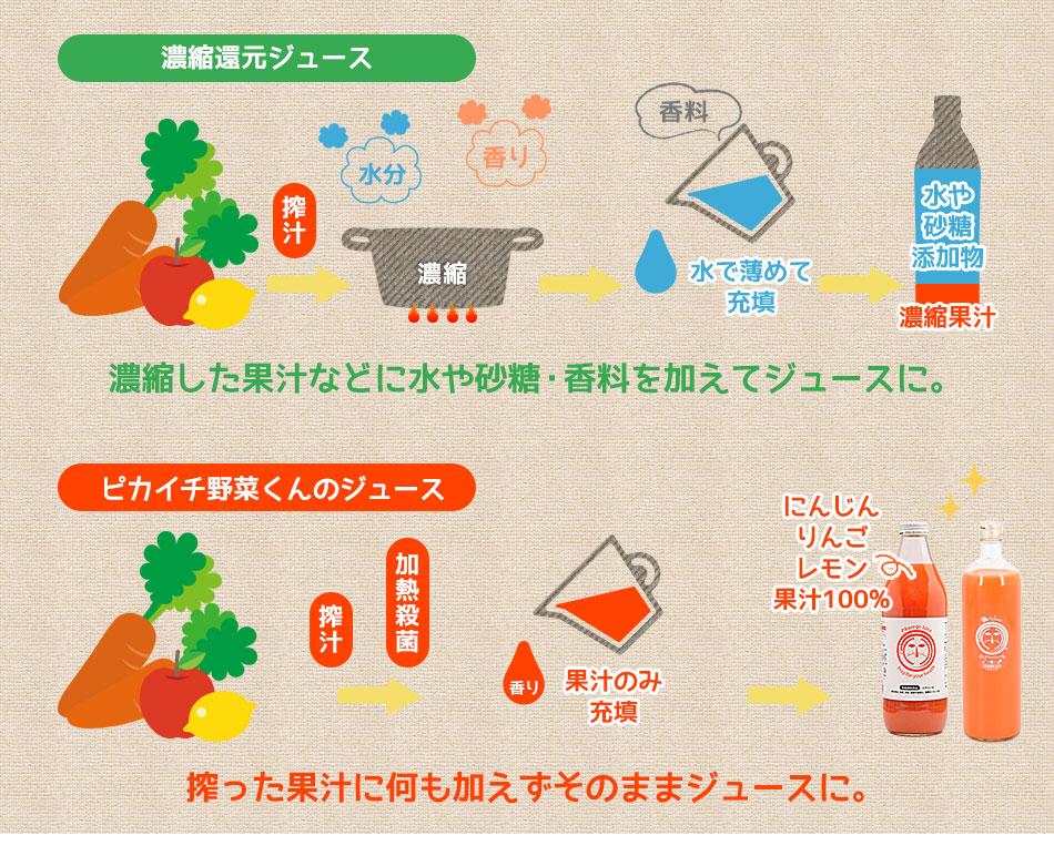 常温人参ジュース ハーフ&ハーフセット 6本入(ピュアキャロップル3本、繊維入にんじんりんごレモンジュース3本)