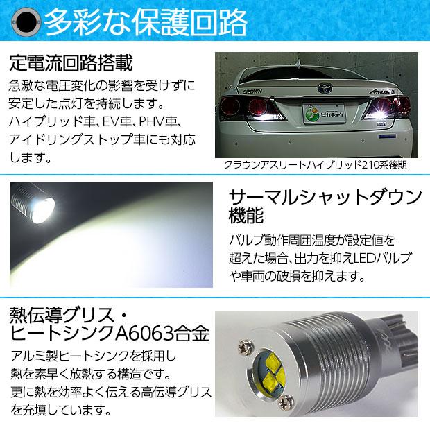 【即納】【メール便可】T16 ボルトオンHYPER SMD 250lm ウェッジシングル LEDカラー:ユーロホワイト7800K 無極性 1セット2個入