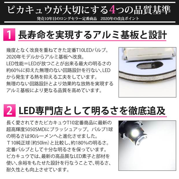 【9%OFF!】【メール便可】ニッサン ノート[E12系 後期モデル]対応 ポジションランプ用LED T10 3chip HYPER SMD 5連 ウェッジシングル LEDカラー:ホワイト 無極性 1セット2個入