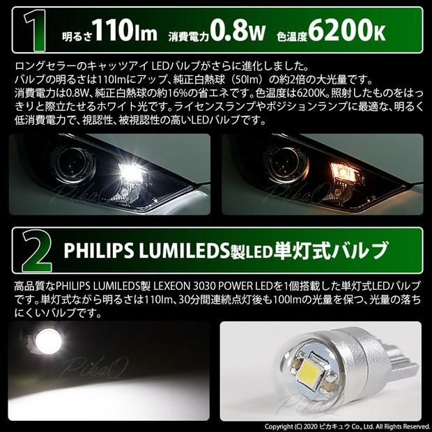 【GW SALE 9%OFF】【メール便可】スズキ ワゴンR スティングレー ハイブリッド [MH55S] 対応 ライセンスランプ用LED T10 Cat's Eye LED BULB 全光束110ルーメン LEDカラー:ホワイト6200K 無極性 1セット1個入