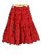 立体花柄刺繍スカート